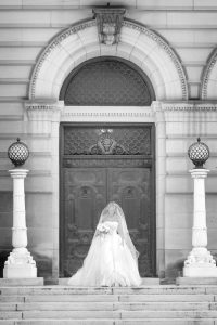 bride at carnegie museum in pittsburgh pa