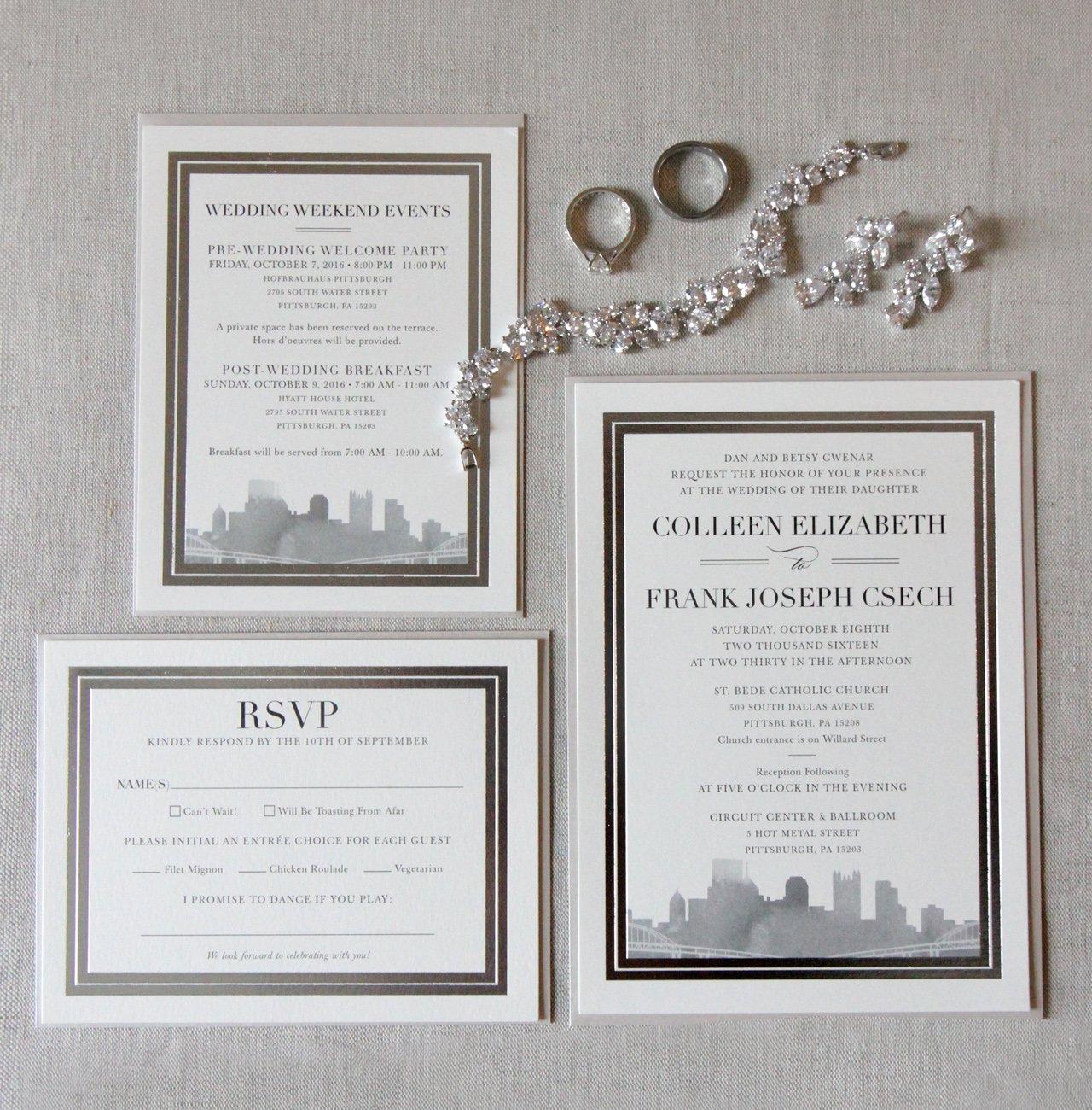 Nice Pittsburgh Wedding Invitations Elaboration - Invitations Design ...