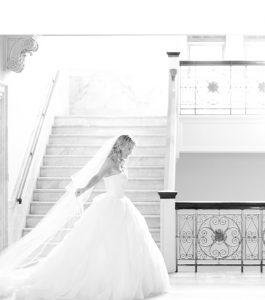 flowing bride