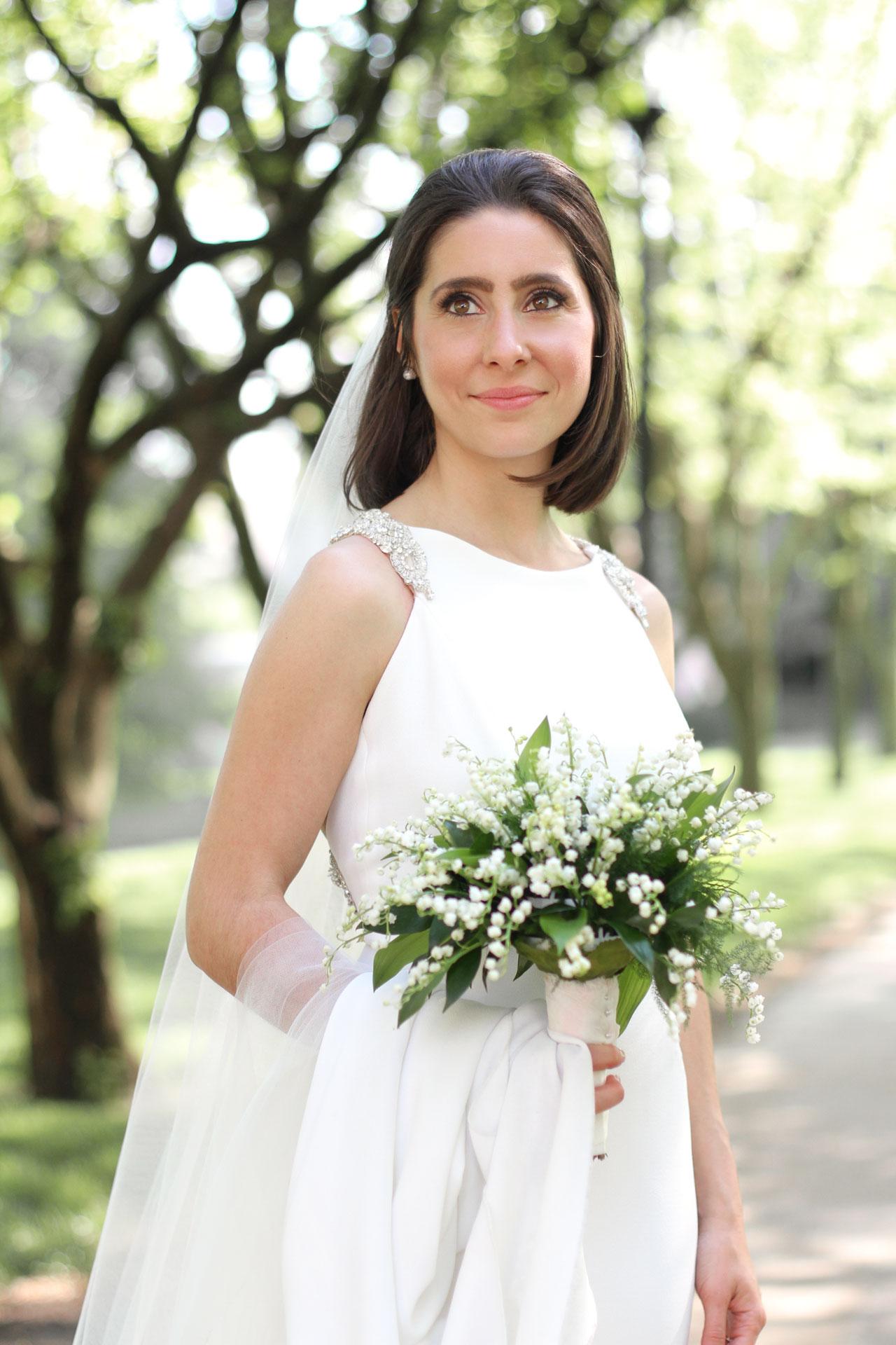 bride at heinz chapel