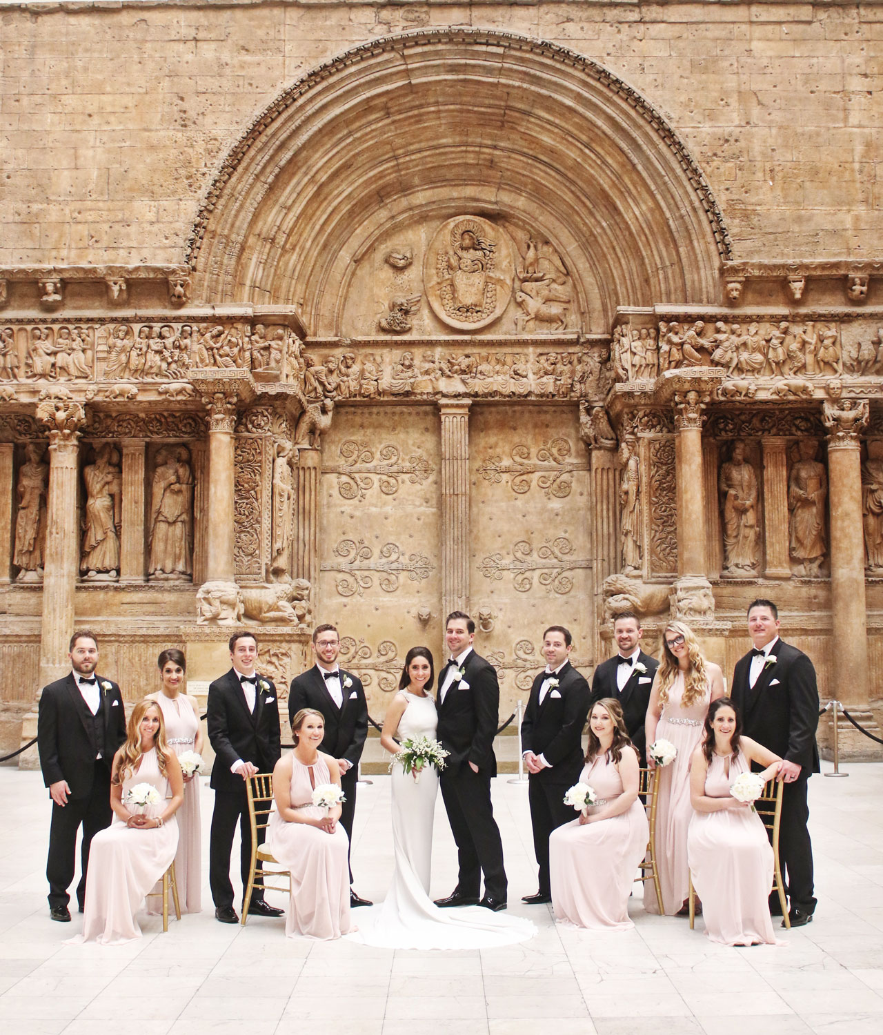 bridal party at carnegie