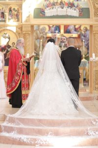 wedding ceremony at all saints greek orthodox church in pittsburgh, pa