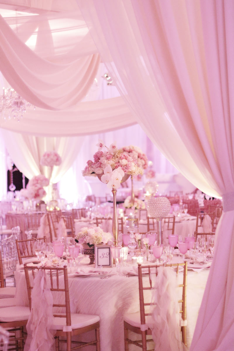 gorgeous pink wedding reception an westin convention center hotel in pittsburgh