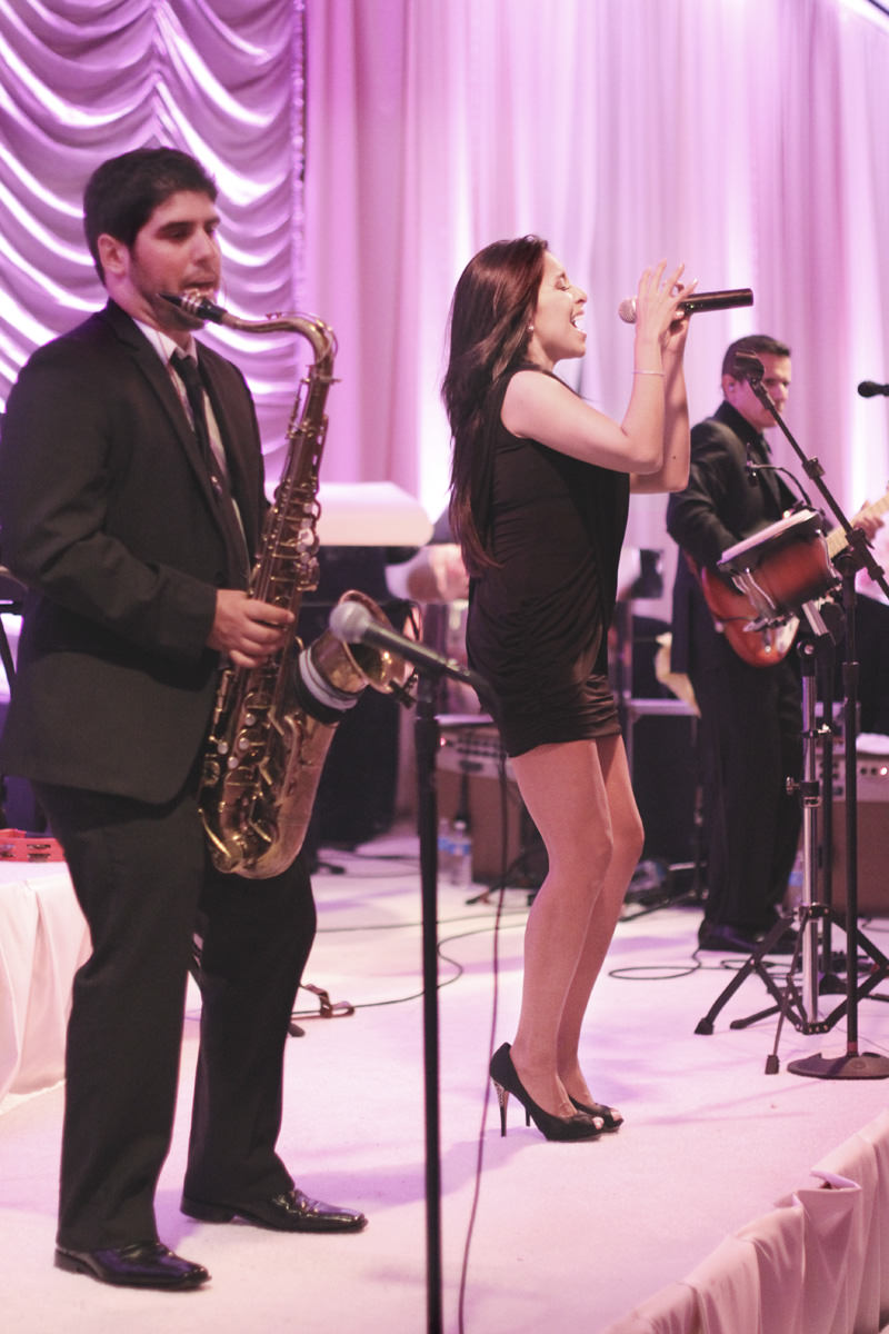 wedding band performing
