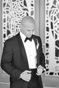 thoughtful groom before wedding ceremony