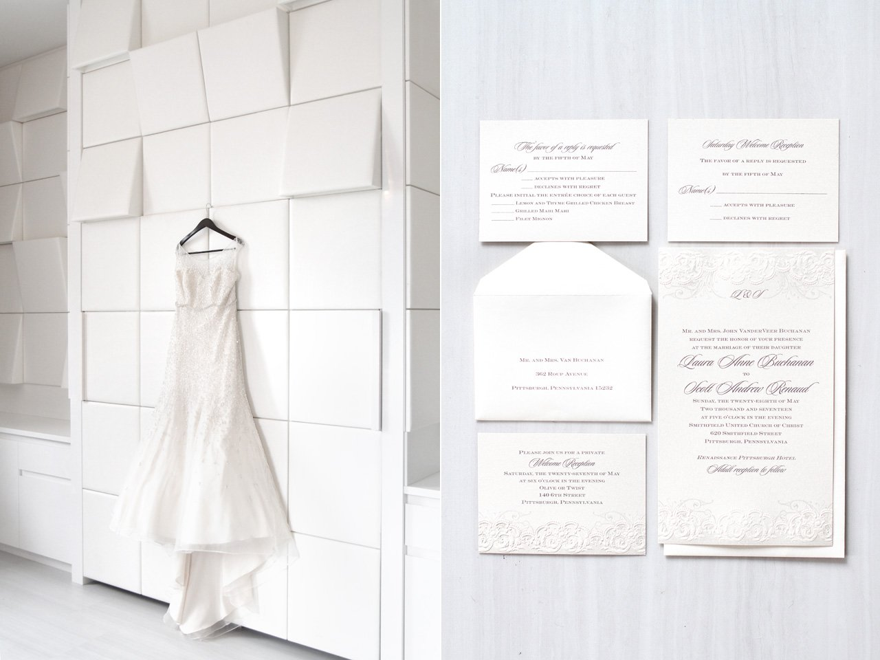 wedding gown invitations