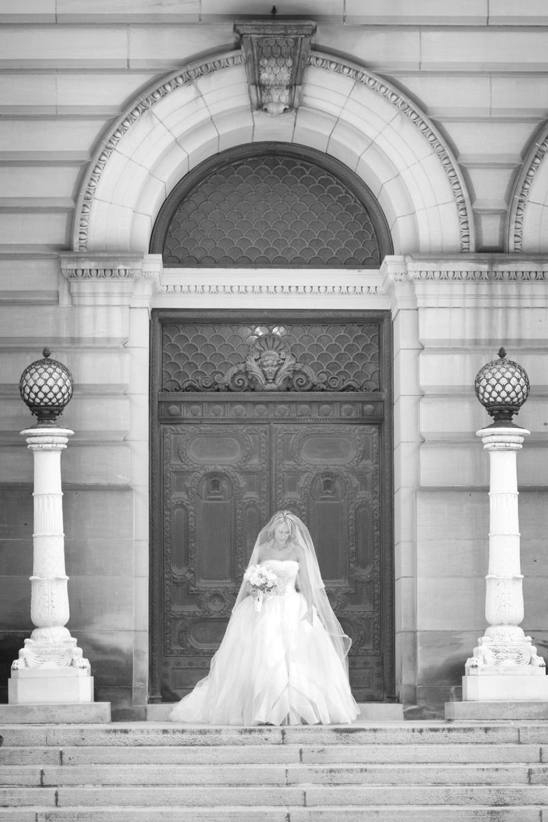 gorgeous bride at the carnegie museum in pittsburgh pa