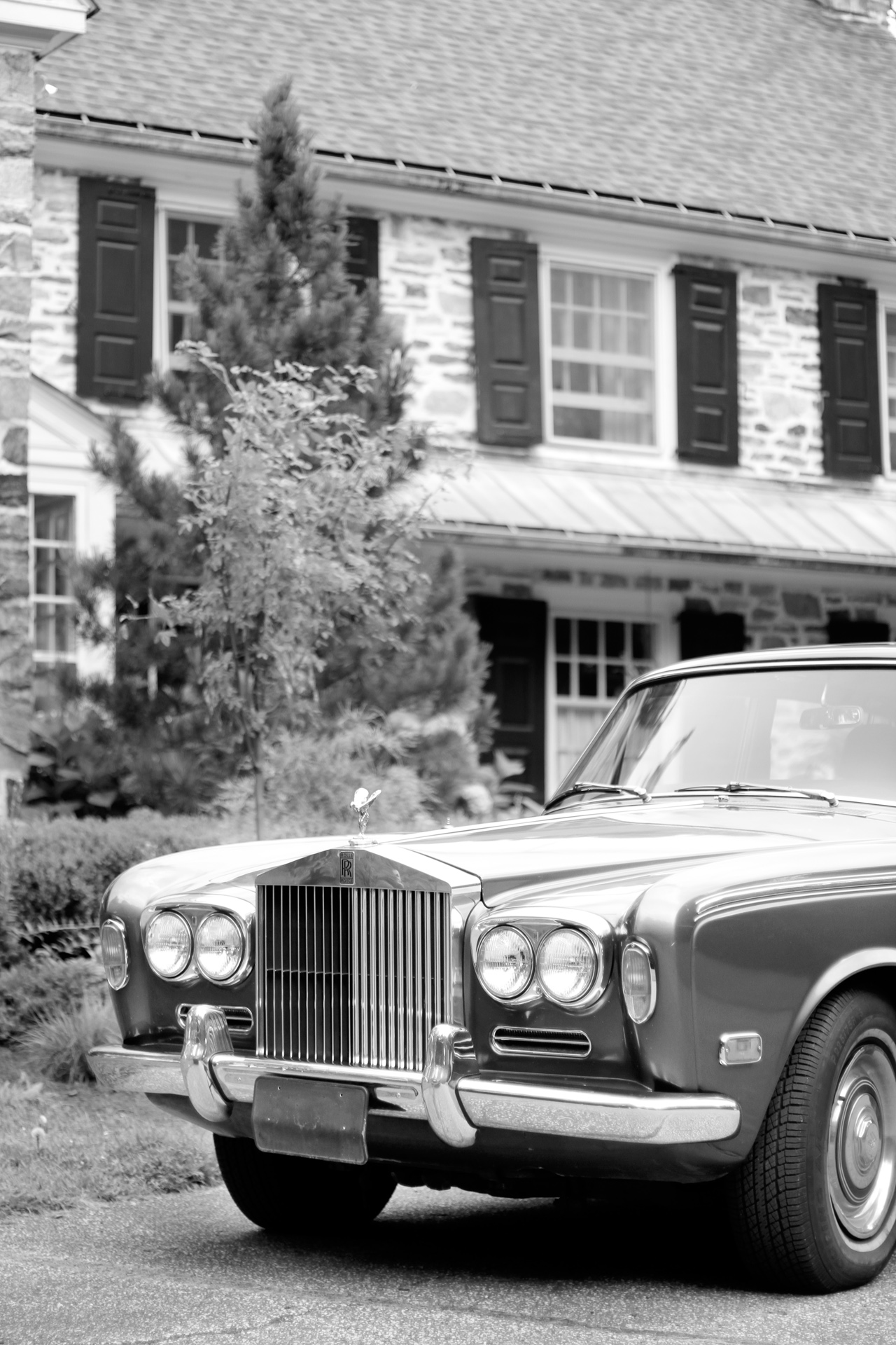 rolls royce at wedding