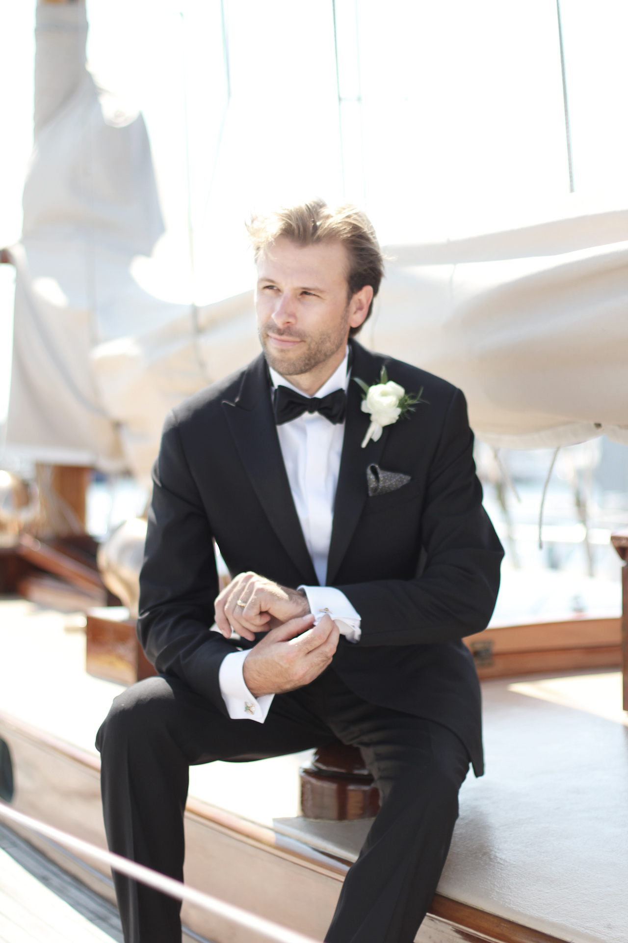 groom on sailboat