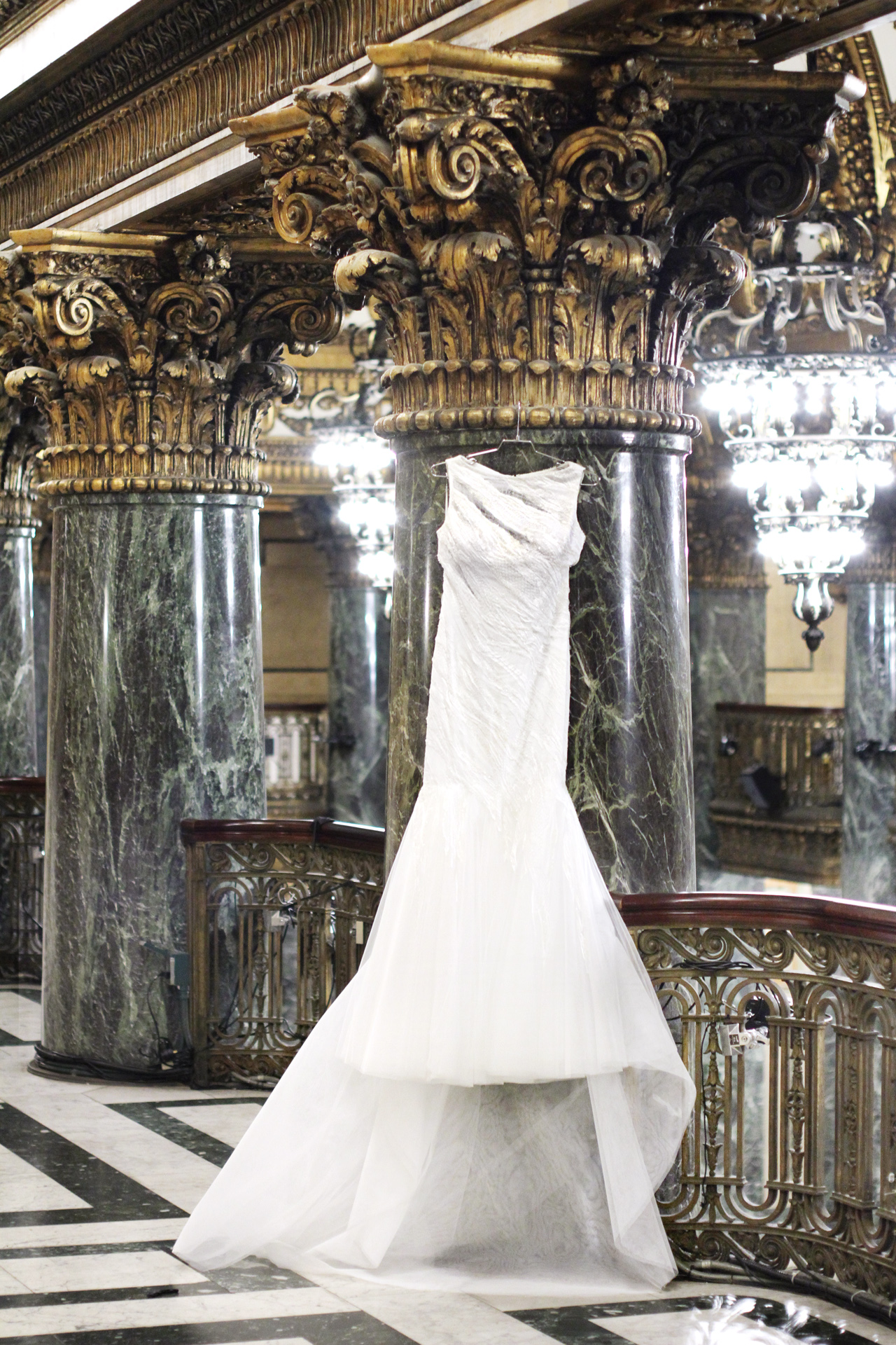 wedding gown at carnegie