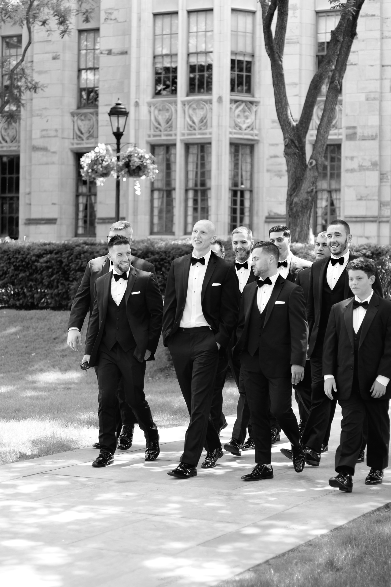 groomsmen at Heinz Chapel Pittsburgh