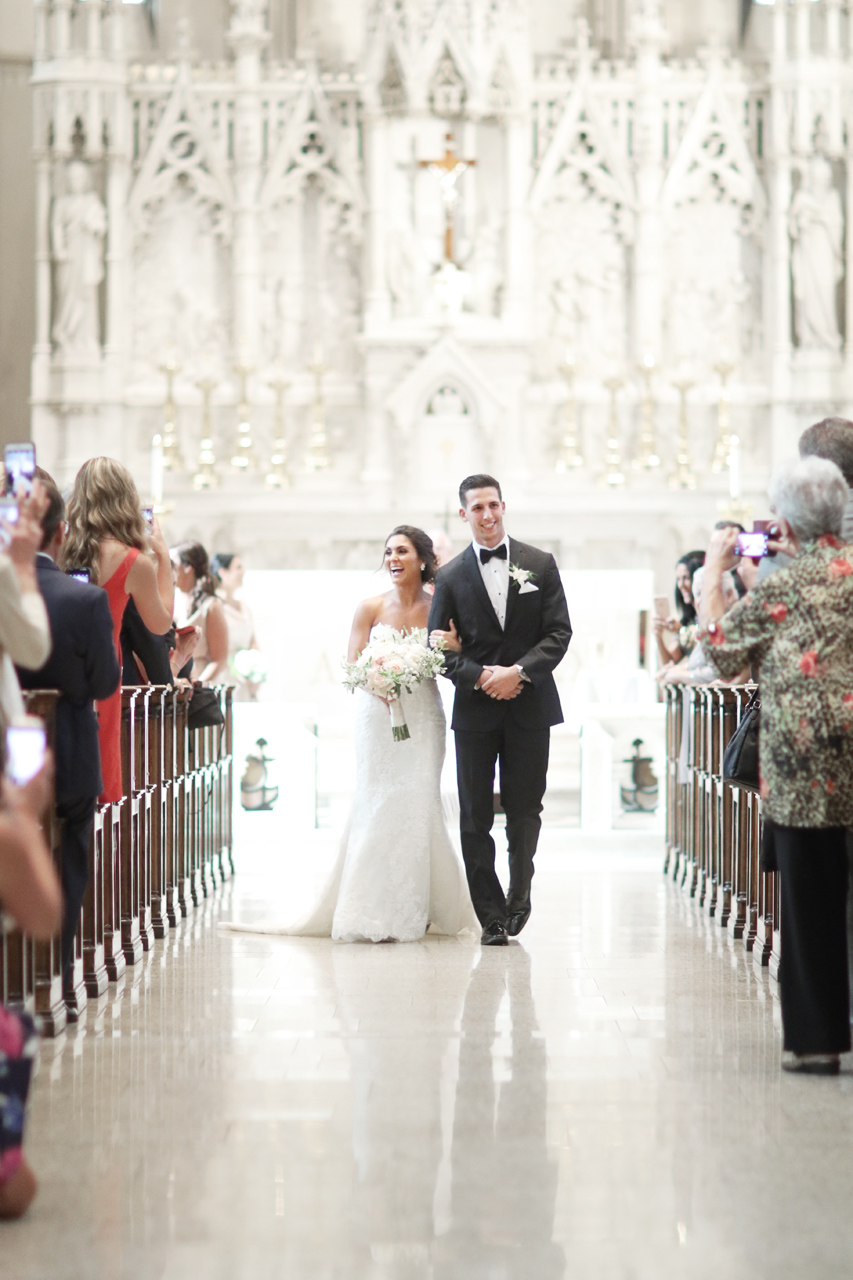 wedding at St Paul Cathedral in Pittsburgh, PA