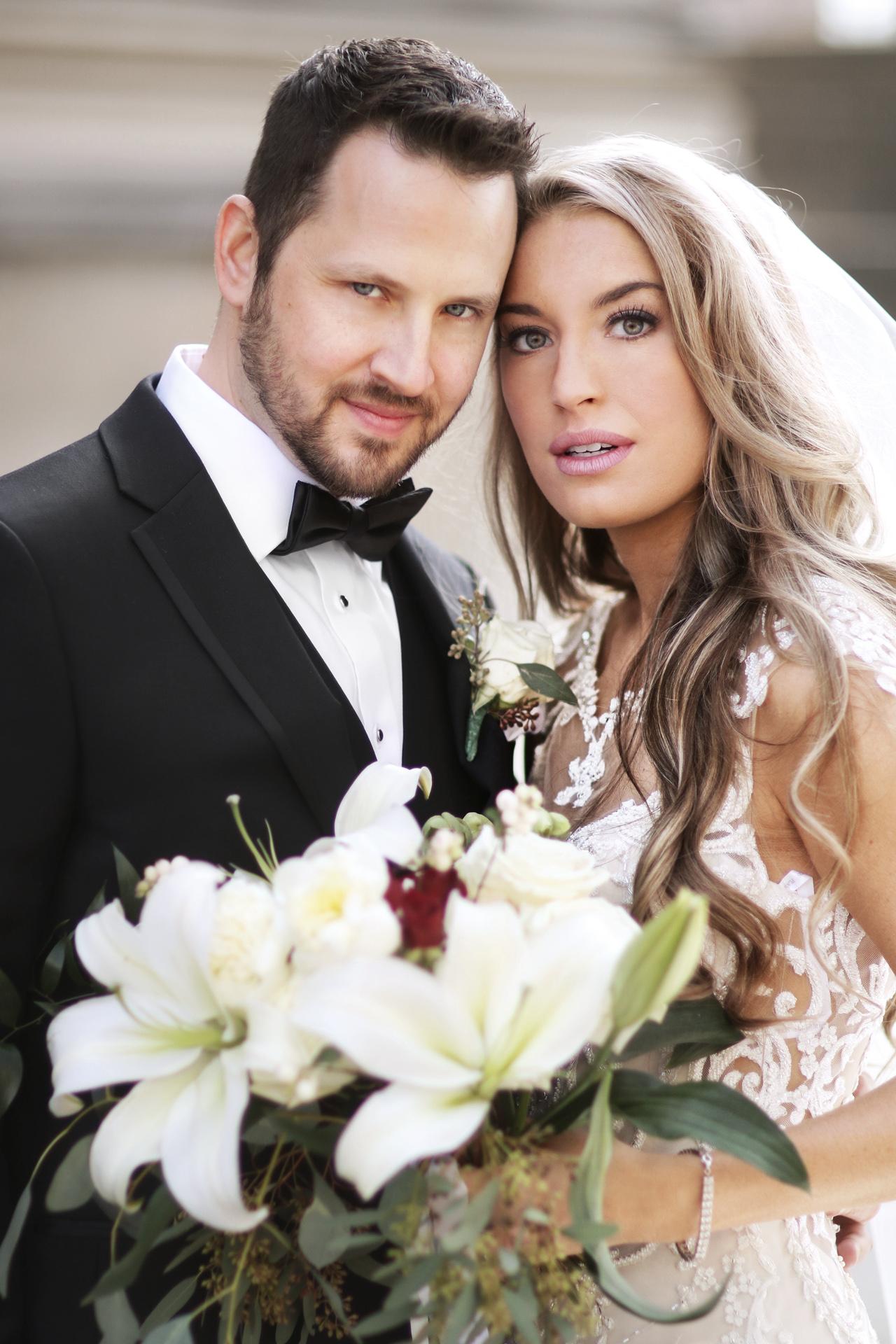 beautiful newlyweds in pittsburgh pa