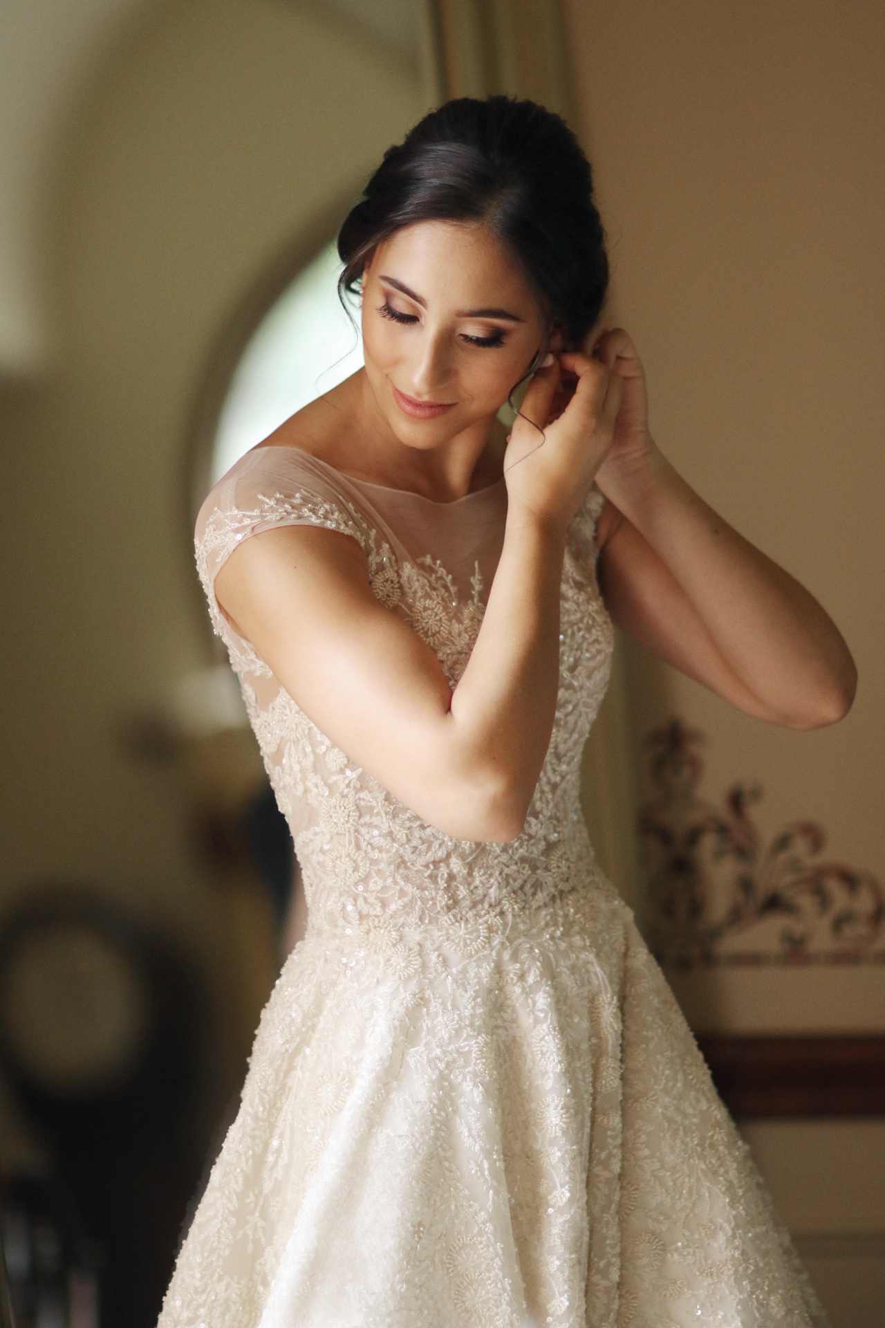 Bride in beautiful light