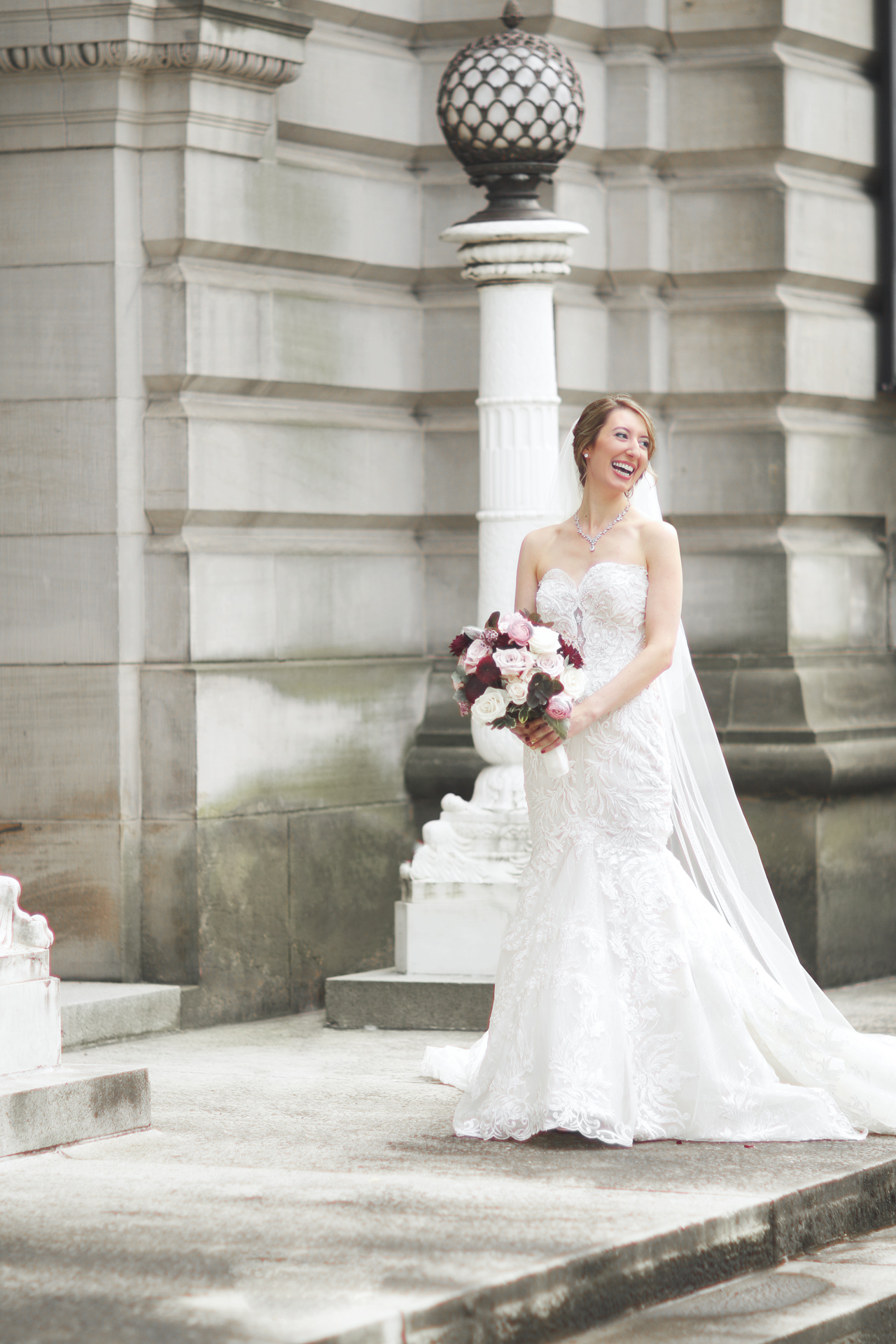 smiling bride by araujo photography in pittsburgh pa