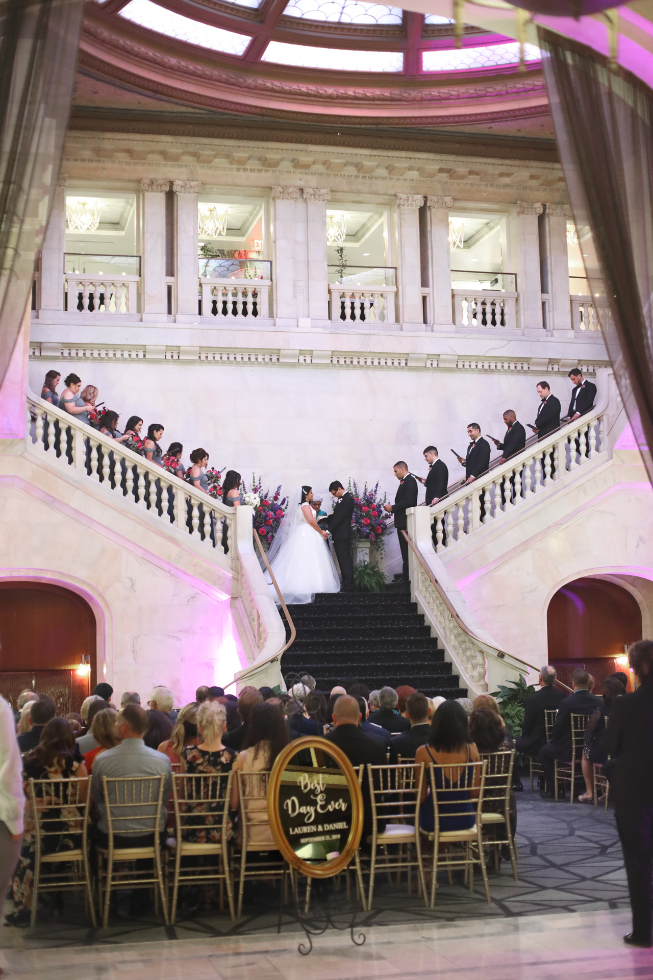 A wedding ceremony in the Renaissance Hotel, Pittsburgh, PA