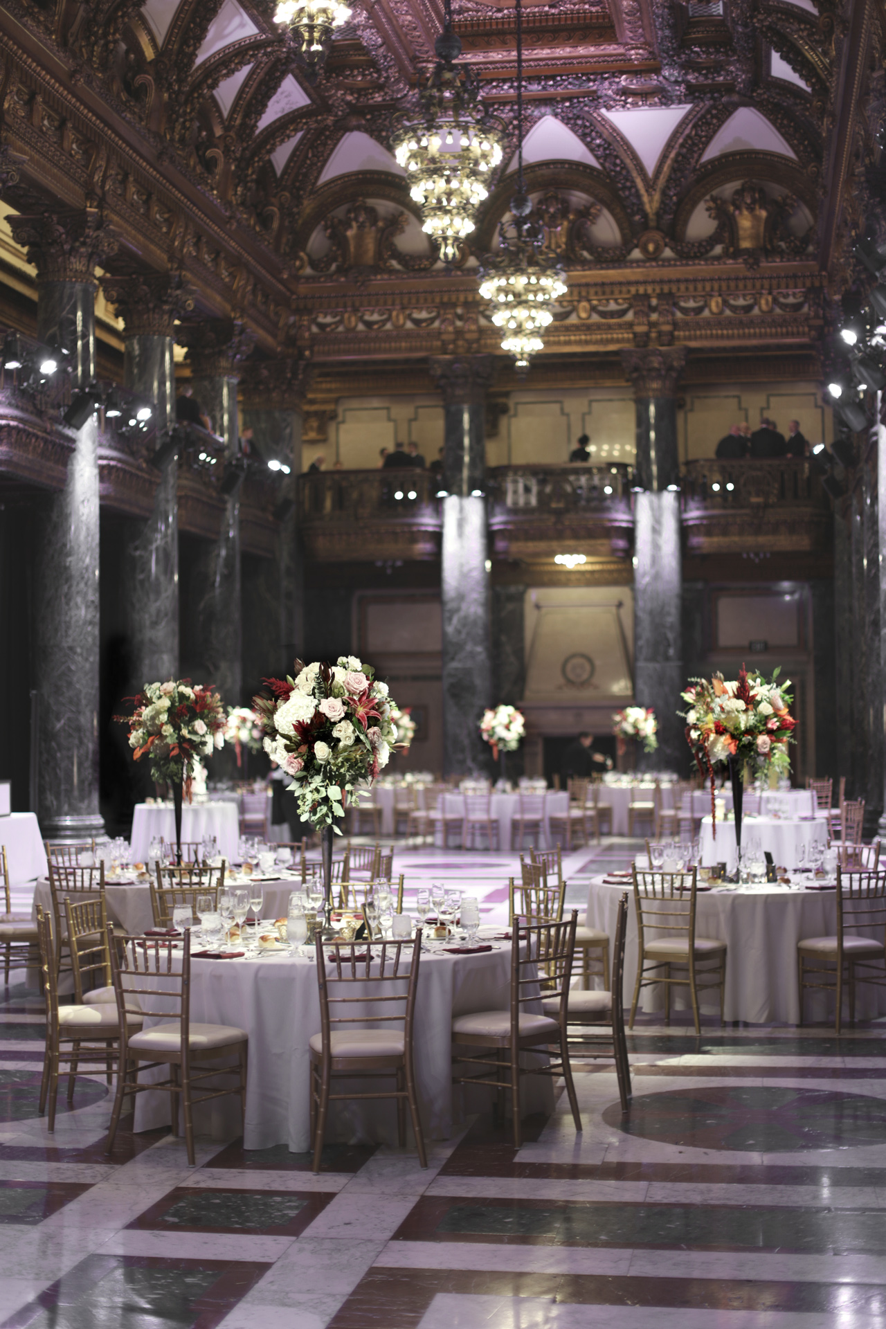 carnegie museum music hall foyer wedding reception