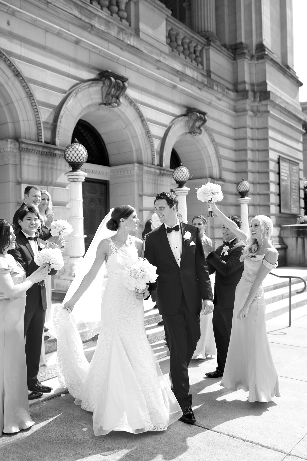 bridal party at carnegie museum pittsburgh pa