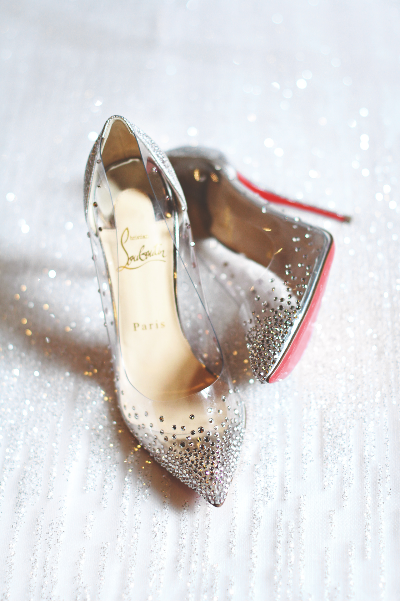 beautiful wedding shoes by louboutin