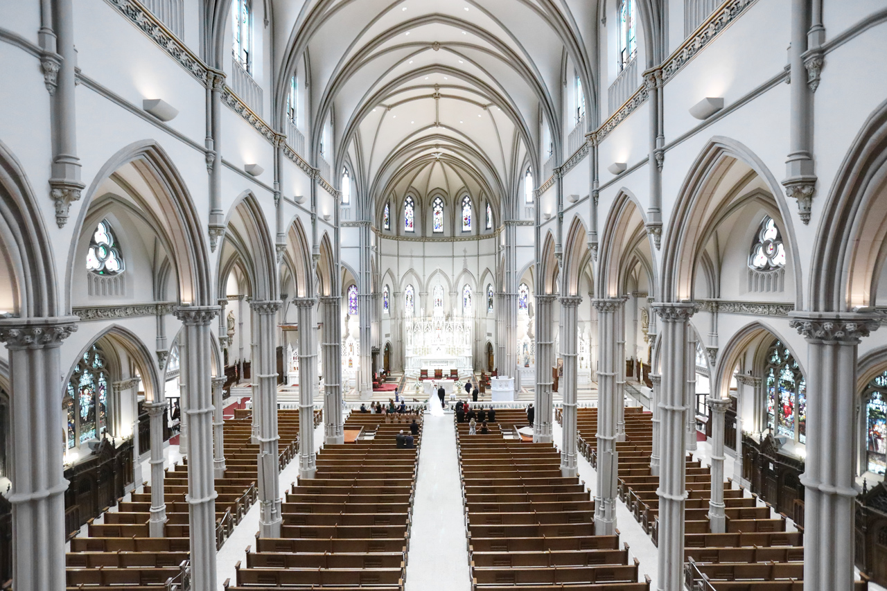 St Paul Cathedral wedding, Pittsburgh, PA